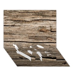 WEATHERED WOOD LOVE Bottom 3D Greeting Card (7x5)
