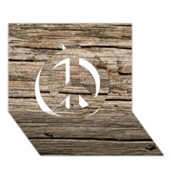 WEATHERED WOOD Peace Sign 3D Greeting Card (7x5)