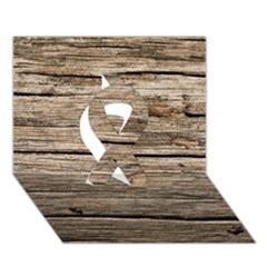 WEATHERED WOOD Ribbon 3D Greeting Card (7x5)