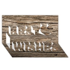 WEATHERED WOOD Best Wish 3D Greeting Card (8x4)