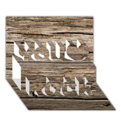 WEATHERED WOOD You Rock 3D Greeting Card (7x5)