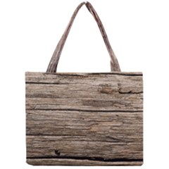 WEATHERED WOOD Tiny Tote Bags