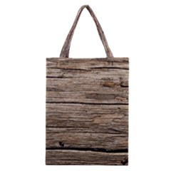 WEATHERED WOOD Classic Tote Bags