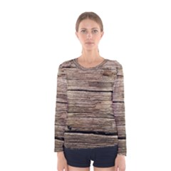 WEATHERED WOOD Women s Long Sleeve T-shirts