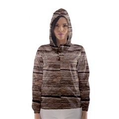 Weathered Wood Hooded Wind Breaker (women)