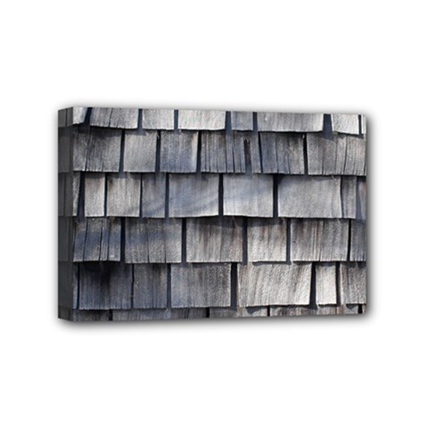 Weathered Shingle Mini Canvas 6  X 4