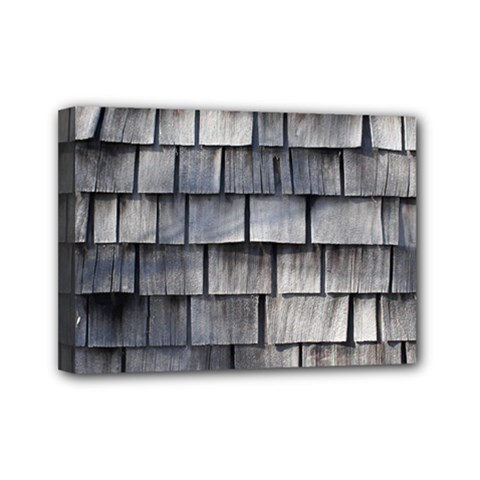 Weathered Shingle Mini Canvas 7  X 5