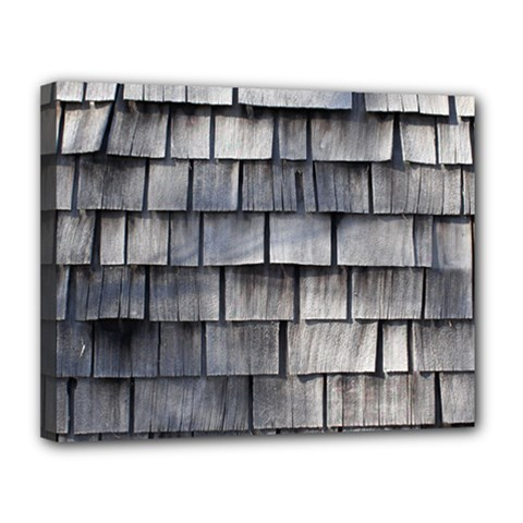 Weathered Shingle Canvas 14  X 11
