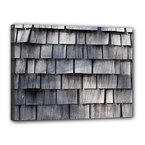 Weathered Shingle Canvas 16  X 12