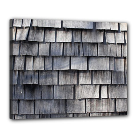 Weathered Shingle Canvas 20  X 16