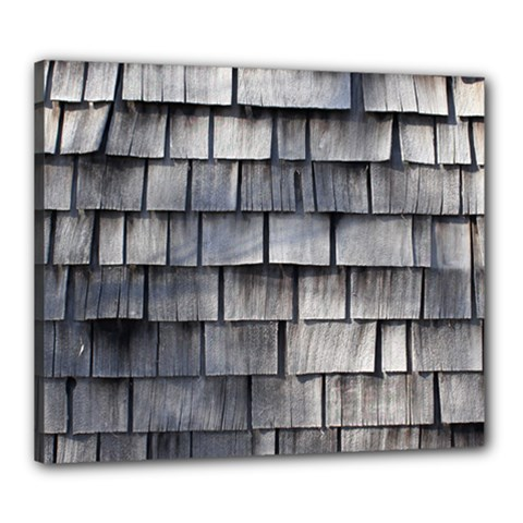 Weathered Shingle Canvas 24  X 20