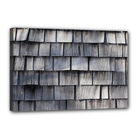 Weathered Shingle Canvas 18  X 12