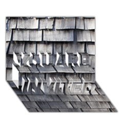 WEATHERED SHINGLE YOU ARE INVITED 3D Greeting Card (7x5)