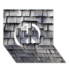 Weathered Shingle Peace Sign 3d Greeting Card (7x5)