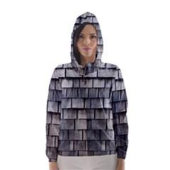 WEATHERED SHINGLE Hooded Wind Breaker (Women)