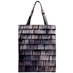 Weathered Shingle Zipper Classic Tote Bags