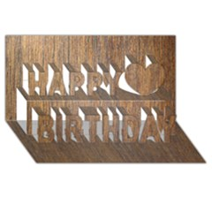 WALNUT Happy Birthday 3D Greeting Card (8x4)