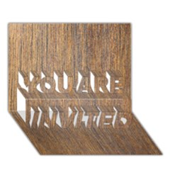 WALNUT YOU ARE INVITED 3D Greeting Card (7x5)