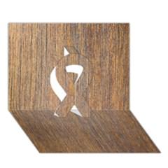 Walnut Ribbon 3d Greeting Card (7x5)