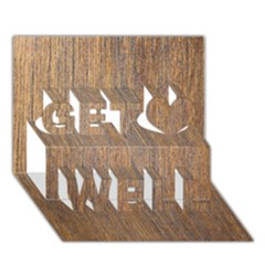 WALNUT Get Well 3D Greeting Card (7x5)