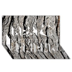 TREE BARK Best Friends 3D Greeting Card (8x4)