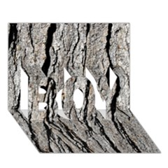 TREE BARK BOY 3D Greeting Card (7x5)