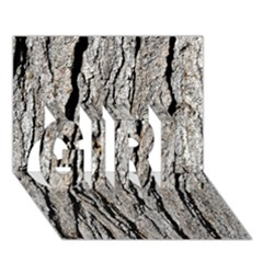 TREE BARK GIRL 3D Greeting Card (7x5)
