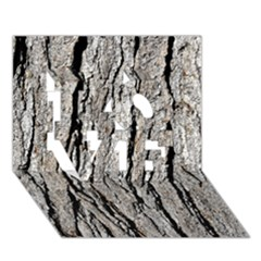Tree Bark Love 3d Greeting Card (7x5)