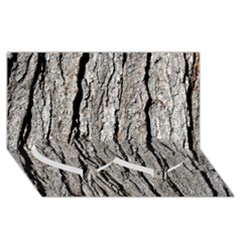 TREE BARK Twin Heart Bottom 3D Greeting Card (8x4)