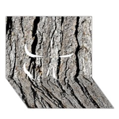 Tree Bark Clover 3d Greeting Card (7x5)