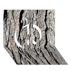 TREE BARK Peace Sign 3D Greeting Card (7x5)