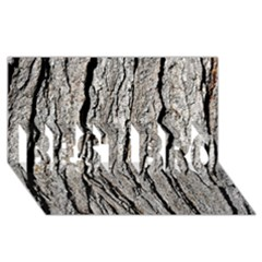 TREE BARK BEST BRO 3D Greeting Card (8x4)