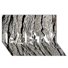 TREE BARK PARTY 3D Greeting Card (8x4)
