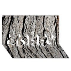 TREE BARK SORRY 3D Greeting Card (8x4)