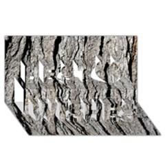 TREE BARK Best Wish 3D Greeting Card (8x4)