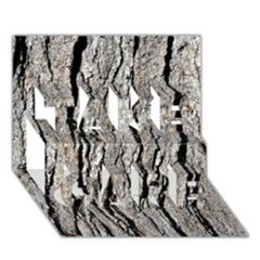 TREE BARK TAKE CARE 3D Greeting Card (7x5)
