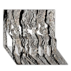 Tree Bark Get Well 3d Greeting Card (7x5)