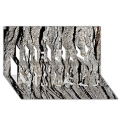TREE BARK Merry Xmas 3D Greeting Card (8x4)