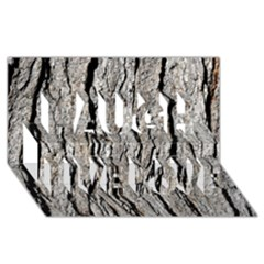 TREE BARK Laugh Live Love 3D Greeting Card (8x4)