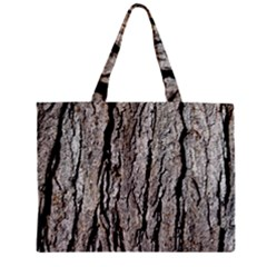 Tree Bark Zipper Tiny Tote Bags
