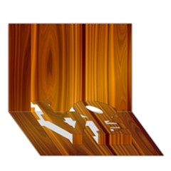 Shiny Striated Panel Love Bottom 3d Greeting Card (7x5)