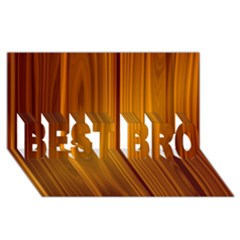 Shiny Striated Panel Best Bro 3d Greeting Card (8x4)