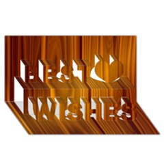 Shiny Striated Panel Best Wish 3d Greeting Card (8x4)