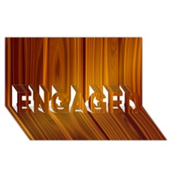 SHINY STRIATED PANEL ENGAGED 3D Greeting Card (8x4)