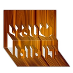 Shiny Striated Panel You Did It 3d Greeting Card (7x5)