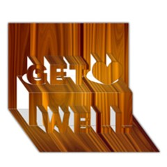 SHINY STRIATED PANEL Get Well 3D Greeting Card (7x5)