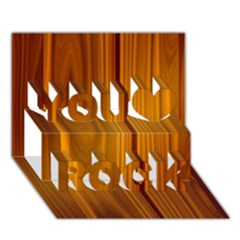 SHINY STRIATED PANEL You Rock 3D Greeting Card (7x5)