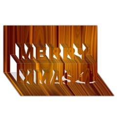 SHINY STRIATED PANEL Merry Xmas 3D Greeting Card (8x4)
