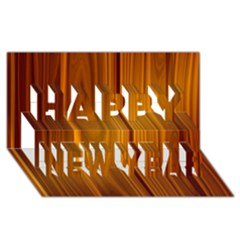 SHINY STRIATED PANEL Happy New Year 3D Greeting Card (8x4)