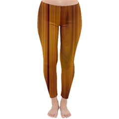 Shiny Striated Panel Winter Leggings